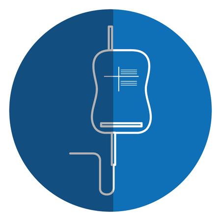 bag blood donation icon vector illustration design