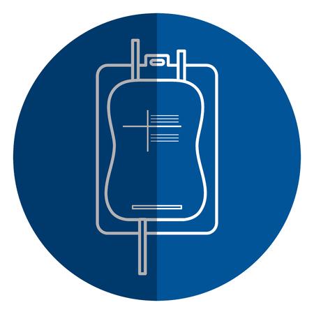 Bolsa de donación de sangre icono de diseño de ilustración vectorial Foto de archivo - 77988314