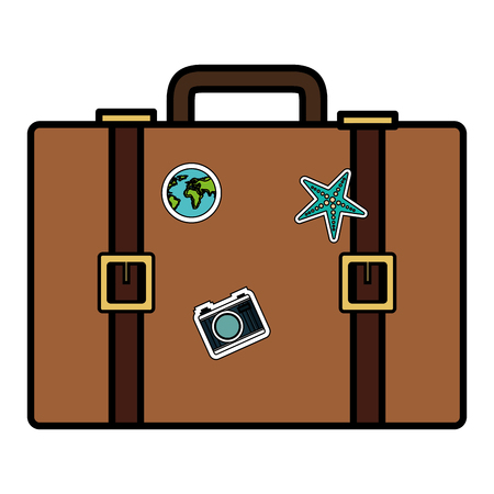 koffer reizen geïsoleerde pictogram vectorillustratieontwerp Stock Illustratie