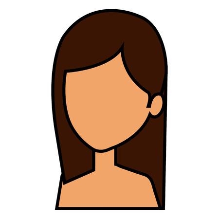 Jeune femme avatar torse nu caractère vector illustration design Banque d'images - 77988754