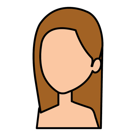 Jeune femme avatar torse nu caractère vector illustration design Banque d'images - 77988835