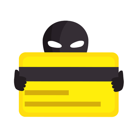 Hacker with credit card avatar character vector illustration design Ilustrace
