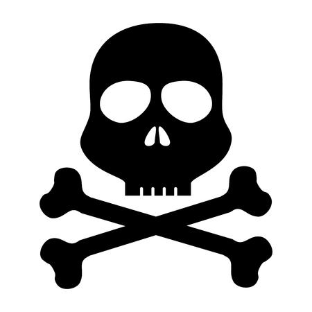 skull danger alert icon vector illustration design Ilustração