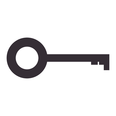 antique door key icon vector illustration design Ilustração