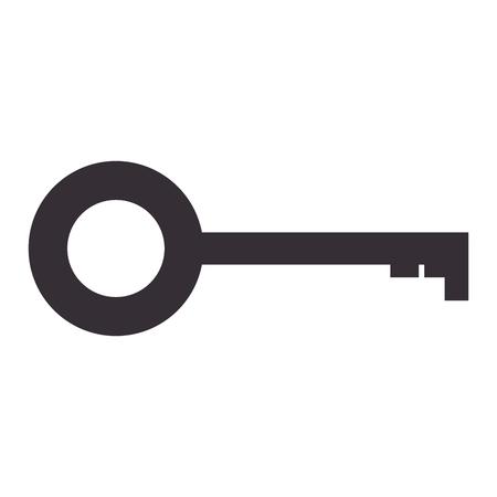 porte antique clé icône vector illustration design
