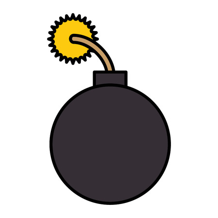 boom explosive isolated icon vector illustration design Çizim