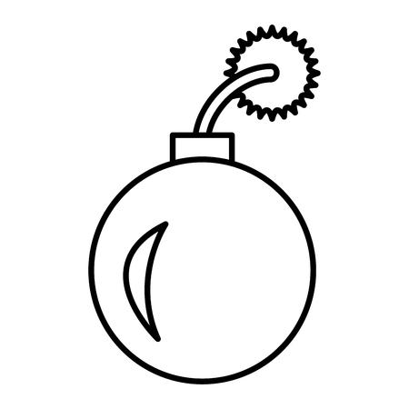 붐 폭발성 고립 된 아이콘 벡터 일러스트 레이 션 디자인