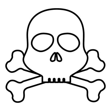 skull danger alert icon vector illustration design Ilustrace
