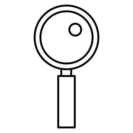 search magnifying glass icon vector illustration design Stock Vector - 77989391