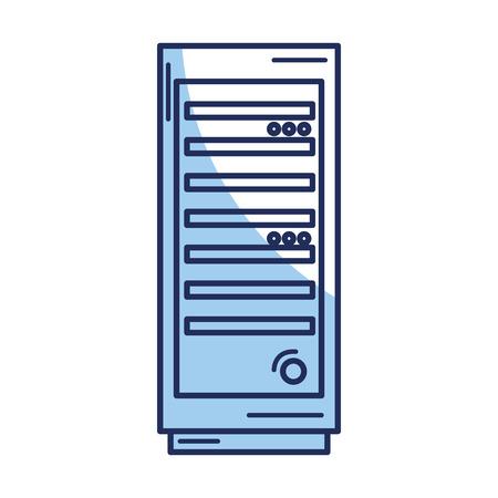 server tower isolated icon vector illustration design Illustration