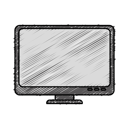 pc icon: computer desktop isolated icon vector illustration design Illustration