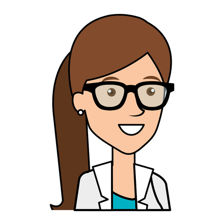 female doctor avatar character vector illustration design Ilustração