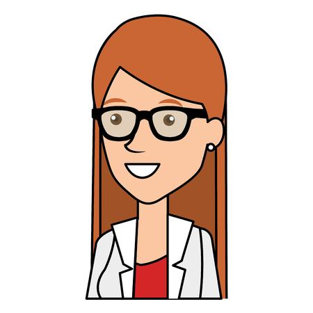 female doctor avatar character vector illustration design Stock Photo