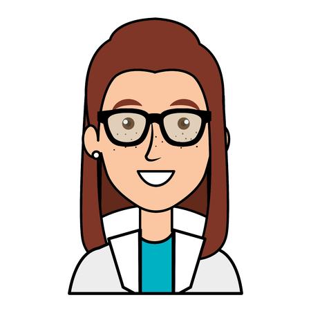 vrouwelijke arts avatar karakter vector illustratie ontwerp