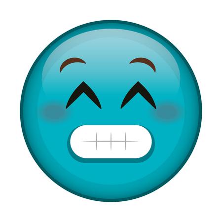 sorry face emoticon kawaii character vector illustration design Illustration