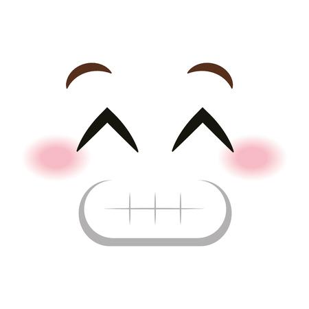 sorry face emoticon kawaii style vector illustration design Illustration