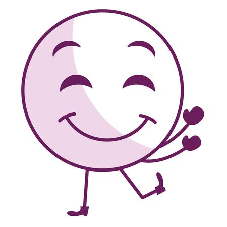 désolé: face emoticon kawaii character vector illustration design