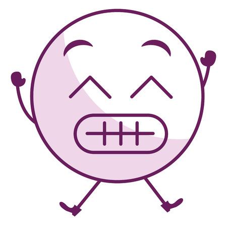 sorry face emoticon kawaii character vector illustration design Stock Photo