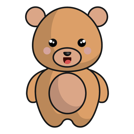 cute and tender bear kawaii style vector illustration design Illustration