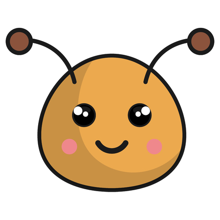 cute and tender bee kawaii style vector illustration design