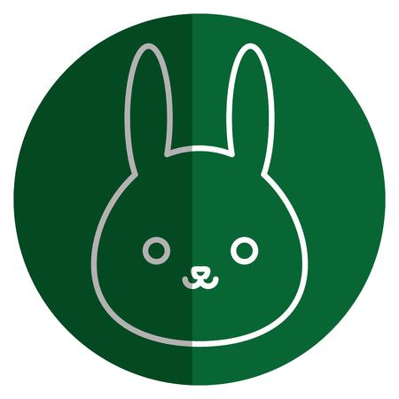cute and tender rabbit kawaii style vector illustration design Stock Photo