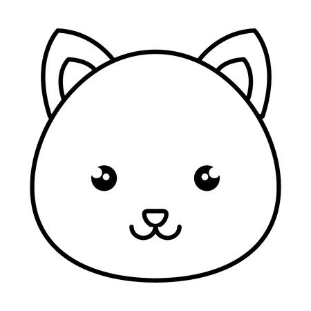 cute and tender hamster kawaii style vector illustration design