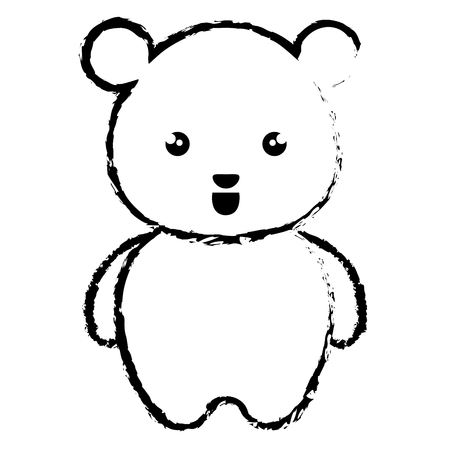 cute bear: cute and tender bear kawaii style vector illustration design Illustration