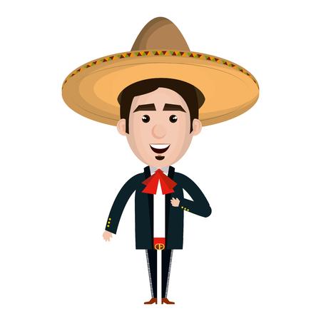 メキシコのマリアッチ アバター文字ベクトル イラスト デザイン 写真素材 - 77997403