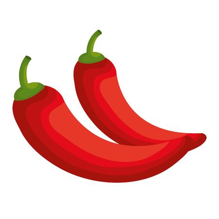 capsaicin: chili pepper isolated icon vector illustration design