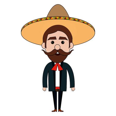 メキシコのマリアッチ アバター文字ベクトル イラスト デザイン 写真素材 - 77997435