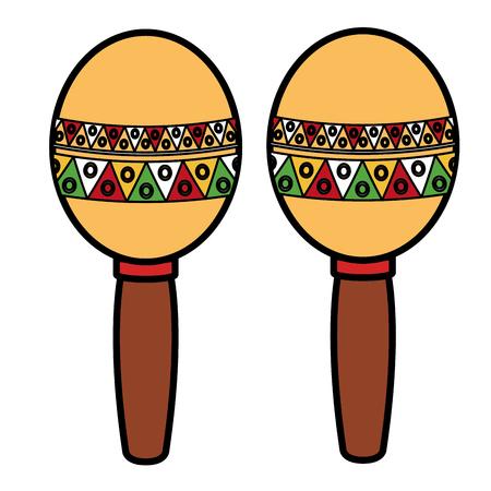 Maracas mexicano aislado icono de ilustración vectorial de diseño Foto de archivo - 77997437