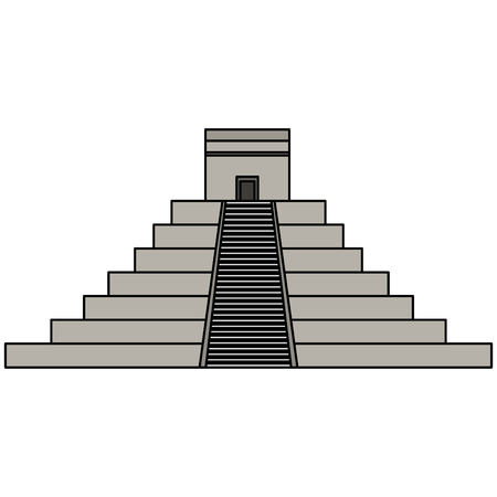mayan pyramid isolated icon vector illustration design