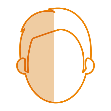young man head avatar vector illustration design