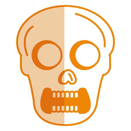 Skull head avatar character vector illustration design Illustration