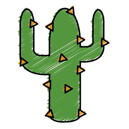 Cactus plant isolated icon vector illustration design