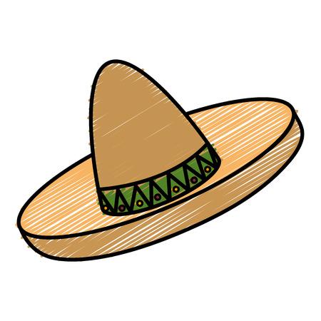 traje mexicano: Mexican hat isolated icon vector illustration design