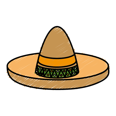 traje mexicano: Mexican hat isolated icon vector illustration design