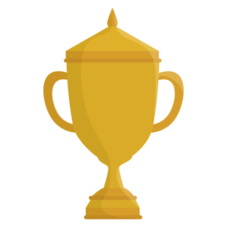 award winning: Trophy cup isolated icon vector illustration design