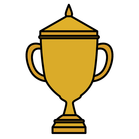 victor: Trophy cup isolated icon vector illustration design