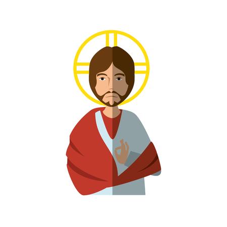 jesuschrist: Jesuschrist face cartoon Illustration