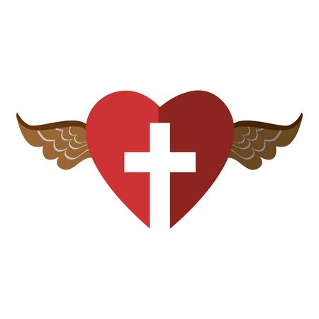 Christian cross symbol Illustration