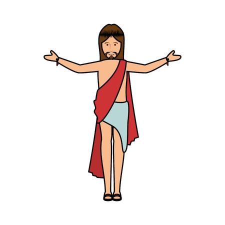 Jesus Christ face cartoon Ilustração