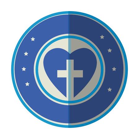 Christian cross symbol Ilustrace