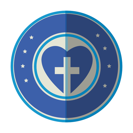 Cruz cristiana símbolo Foto de archivo - 78060671