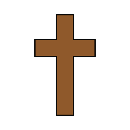 Christian cross symbol Ilustrace