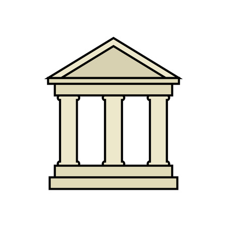 architecture background bank baking vector ilustration classic