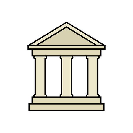 architectuur achtergrond bank bakken vector ilustration classic