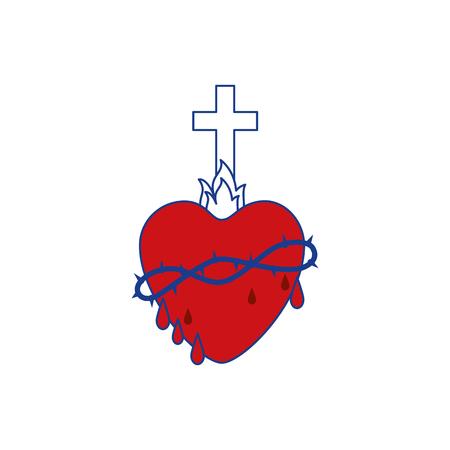 Holy sacred heart Ilustrace