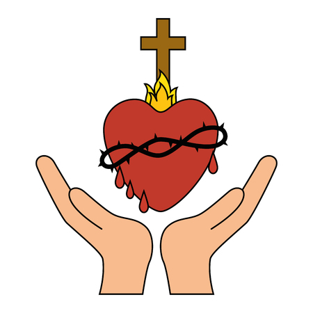 Holy sacred heart Иллюстрация