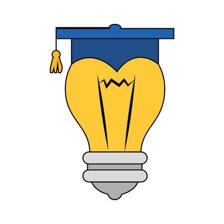 Symbole de chapeau de graduation Banque d'images - 78060824